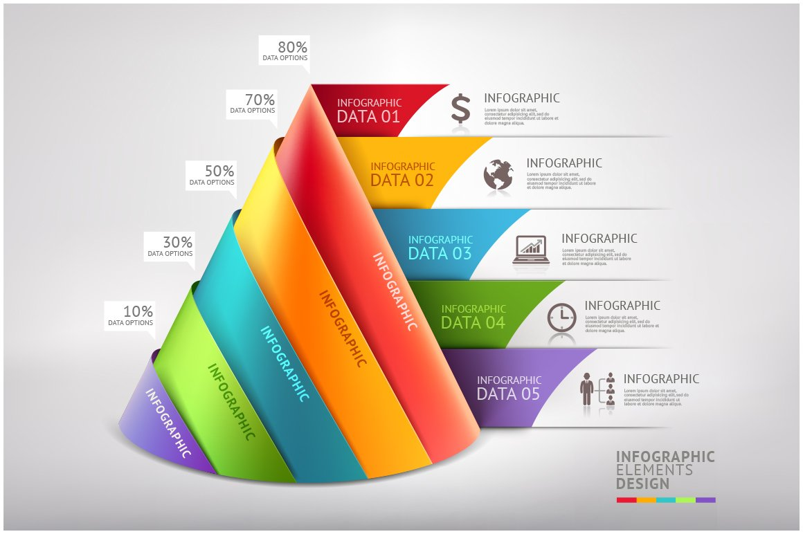 Business Cone Infographic Template ~ Presentation ...
