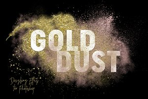 Gold Dust Glitter Effects
