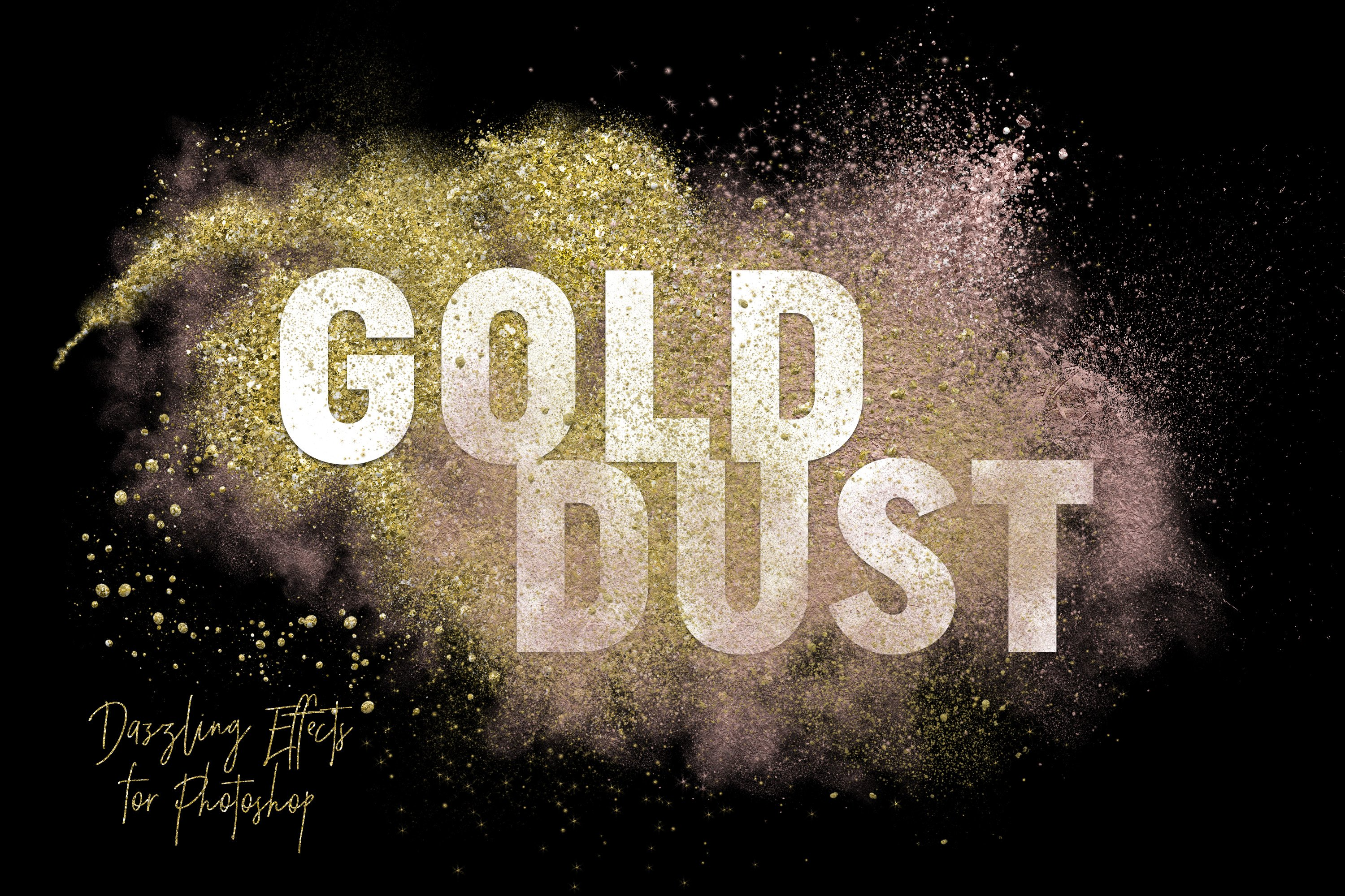 Gold dust glitter effects layer styles creative market baditri Gallery