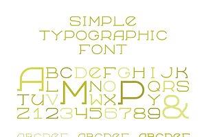 Simple serif alphabet