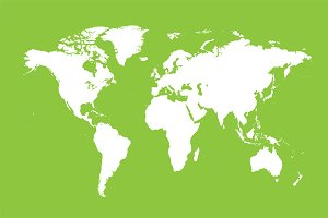 World map green flat design web elements creative market gumiabroncs Gallery