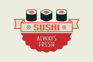 Sushi rolls logo