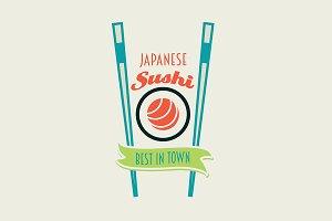 Japanese sushi rolls logo