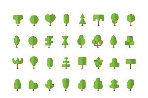 Simple flat trees bundle