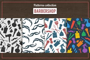 Barber Shop patterns set