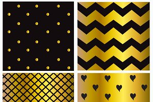 Patterns black and gold color