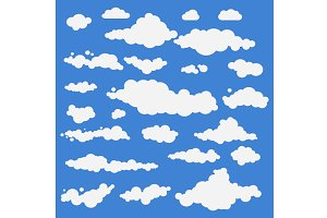 set Vector illustration of clouds