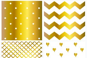 Pattern gold and white color