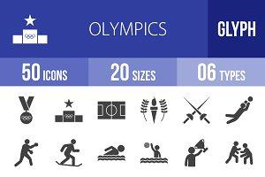 50 Olympics Glyph Icons