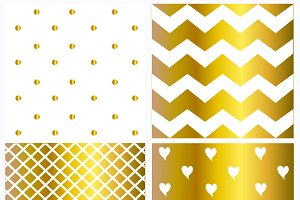 Pattern white and gold color