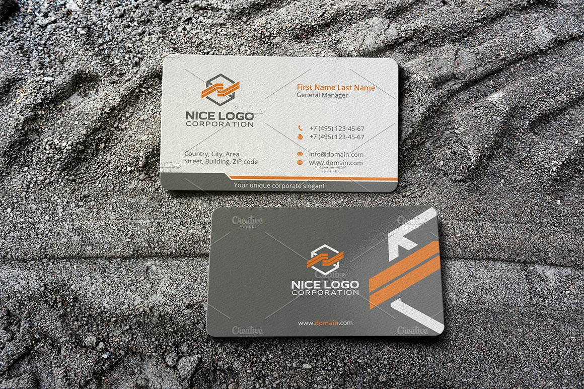 Packing business card business card templates creative market colourmoves
