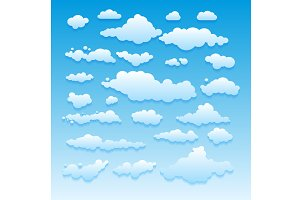 set Vector illustration of clouds