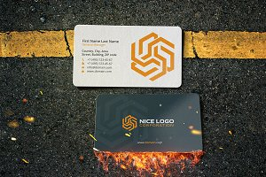 pentagram business card