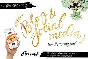 Blog Social Media Handlettering Pack