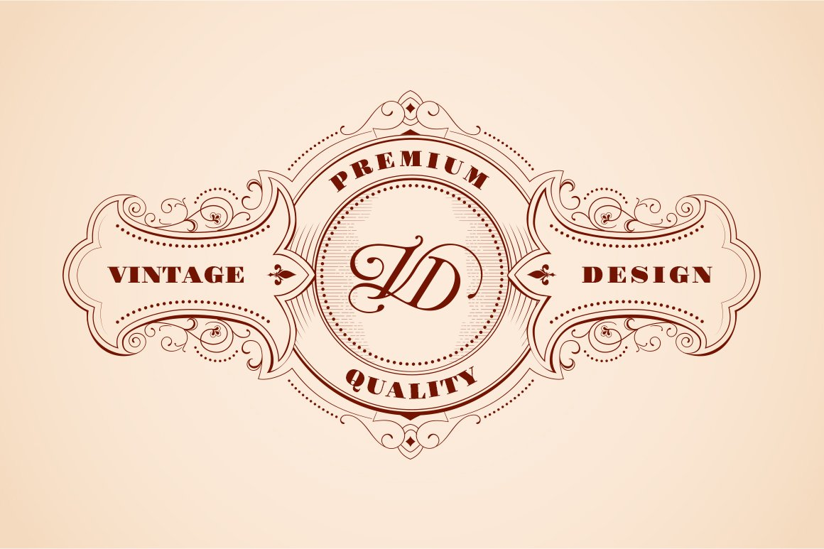 vintage logo design woodcut style logo templates creative market. Black Bedroom Furniture Sets. Home Design Ideas