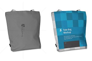 Tote Bag Sublimation Mockup-5 Views