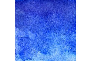 Watercolor blue abstract texture