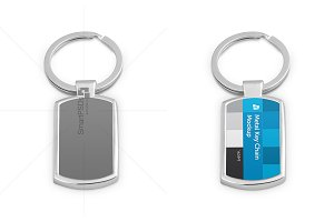 Metal Key Chain Design Mockup