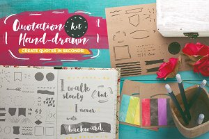 Quotation Hand-drawn Kit