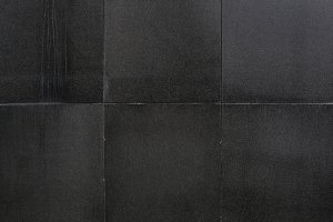 black stones tiled