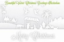 White Christmas Nativity Scene