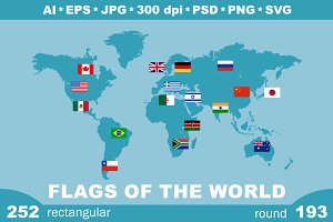 252  world flags