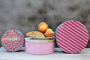 metal containers for sweets