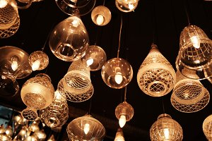 lighting lamps on ceiling