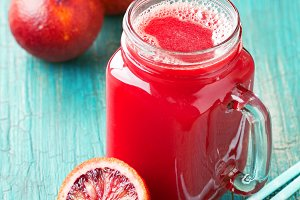 Fresh blood oranges juice