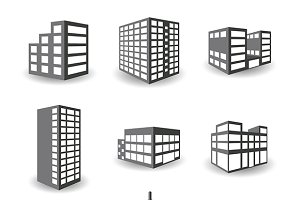 Isometric building iconset