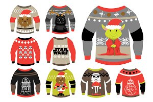 Star Wars Ugly Sweater Set