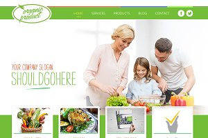 Food and Eco Web template design