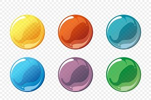 Cartoon soap bubble vector set