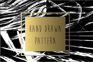 4 Hand drawn pattern set