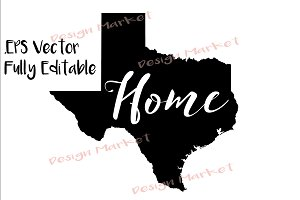 Texas Home Outline Vector
