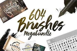 604 Photoshop Brushes Megabundle