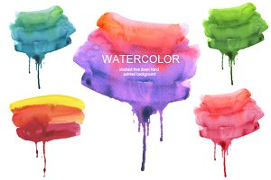 Abstract watercolor collection.