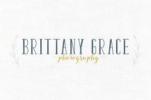 Brittany Grace Premade Logo Template