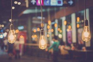 Luxury retro light bulb