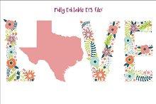 I Love Texas - EPS Vector file