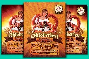 Oktoberfest Pretzel Flyer Template