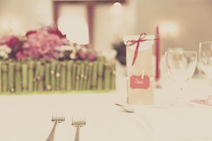 wedding decorated table