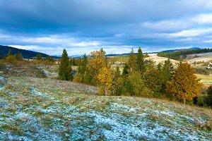 Autumn Carpathian mountain