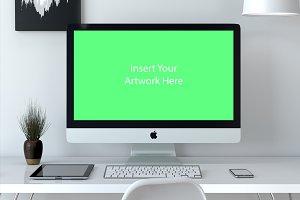 PSD Mockup Scene iMac