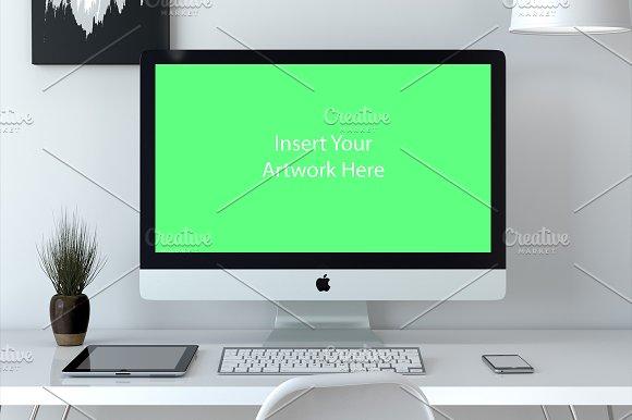 Download PSD Mockup Scene iMac