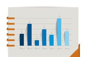 Blue chart graph.
