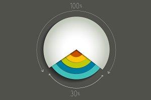 Round chart, graph.