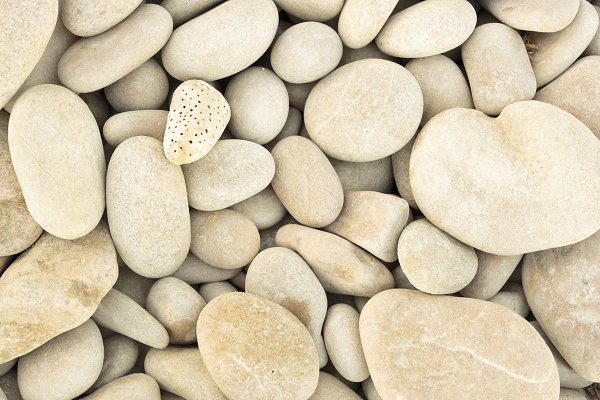 small pebbles piled next