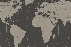 Hand Illustrated World Map & Globe