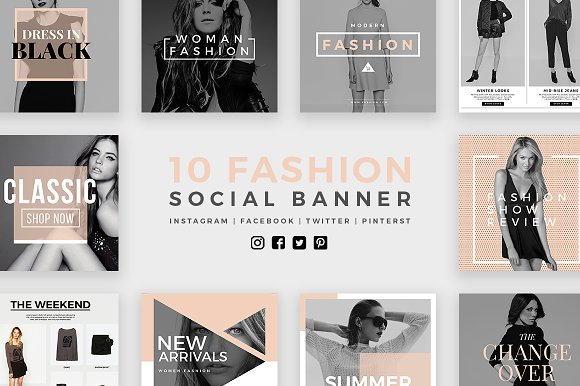 Fashion Social Banner Pack 2